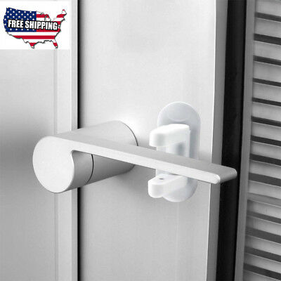 2 Pack Child Secure Safety-Door Lever Lock Child Proof Doors Handles 3M Adhesive