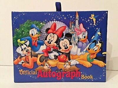 NEW Walt Disney World Resort Parks Autograph Book Exclusive Mickey Minnie Mouse