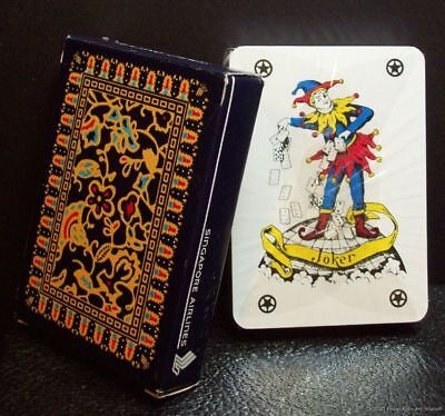 Vintage Singapore Airlines Playing Cards Sealed Deck Open Box 4 Star Joker