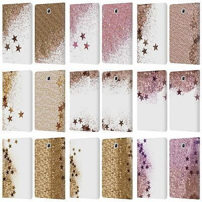 Monika Strigel Shaky Stars Leather Book Wallet Case For Samsung Galaxy Tablets