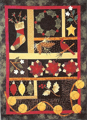 New Pieced and Applique Wallhanging Quilt Pattern CHRISTMAS SAMPLER 28x38