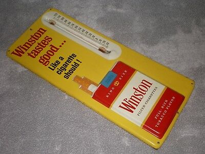 Vintage Winston Cigarette Thermometer, Classic, Original, Good Paint, Nice Clean