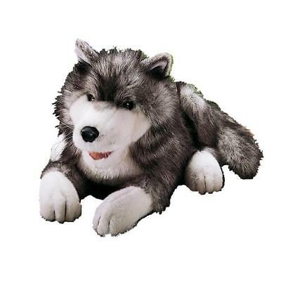 "Folktails Timber Wolf Hand Puppet 18"" Folkmanis Plush Toy Movable Mouth #2"