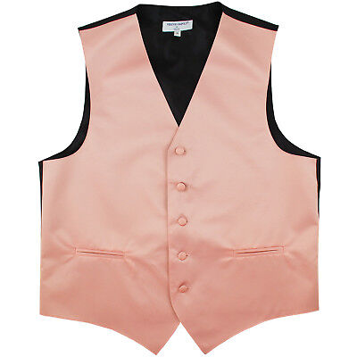 New Men's Formal Tuxedo Vest Waistcoat only solid Mauve Dusty pink wedding prom