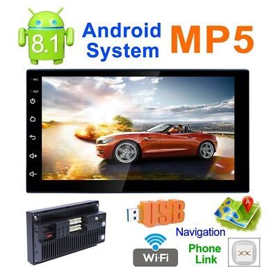 """7""""Quad Core Android 8.1 WIFI Bluetooth 2DIN Car FM Radio Stereo MP5 GPS Player"""