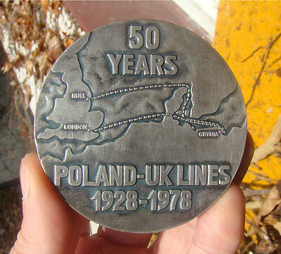 Poland, award medaille for port staff, shipbuilding, maritime