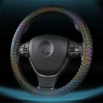 Universal Anti-slip Leather Colorful Car Steering Wheel Cover 38cm Protection