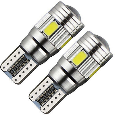 2 X T10 501 194 W5W 5630 LED 6SMD Car HID CANBUS Error Free Wedge Light Bulbs