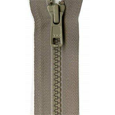 "Ykk Ykk Vislon Sport Closed Bottom Zipper 7""-khaki"