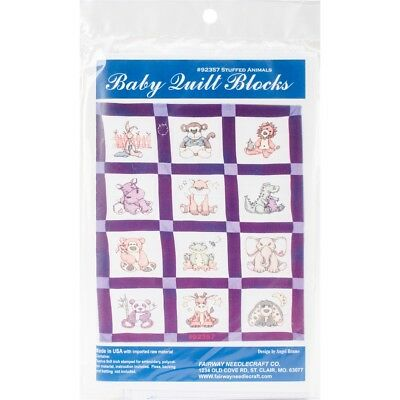 "Fairway Stamped Baby Quilt Blocks 9""x9"" 12/pkg-stuffed Animal"