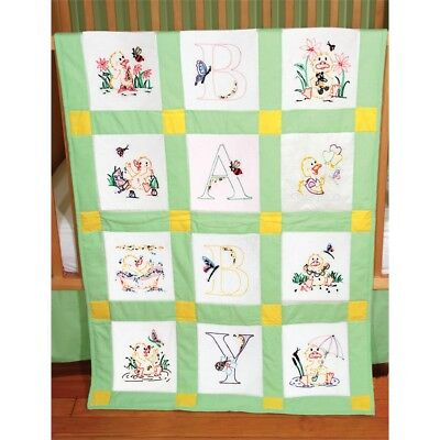 "Fairway Stamped Baby Quilt Blocks 9""x9"" 12/pkg-duck Baby"