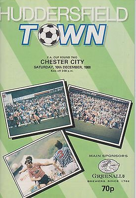 HUDDERSFIELD TOWN v CHESTER CITY 88-89 FA CUP MATCH + 4 PAGE SHOPPING LIST