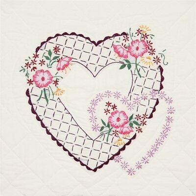 "Fairway Stamped Quilt Blocks 18""x18"" 6/pkg-twin Rose"