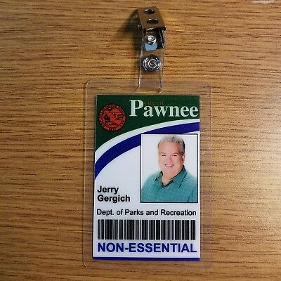 Parks and Recreation ID Badge -City of Pawnee Jerry Gergich costume prop cosplay