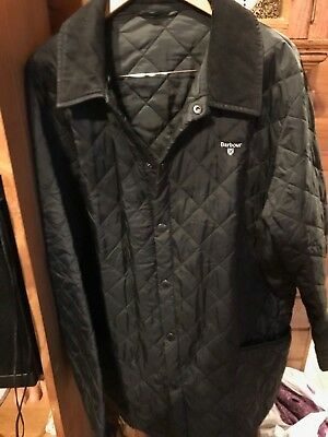 BARBOUR POLAR QUILTS Mens Diamond Quilted Thermal Jacket Size XXL Black Color