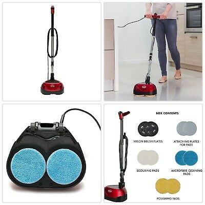 Floor Scrubber Polisher Cleaner All-In-One Reusable Pads Clean Wood Vinyl Marble