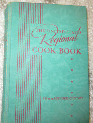The United States Regional Cook Book 1939 Ruth Berolzheimer- 1st EDition