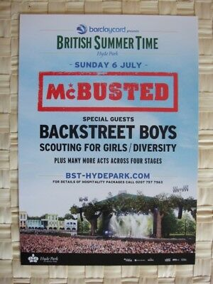 McBUSTED A5 FLYER 2014-FLYER HYDE PARK festBACKSTREET BOYS, SCOUTING 4 GIRLS