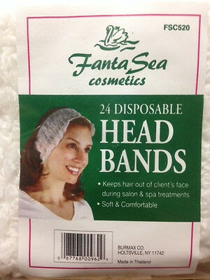 FantaSea Cosmetics - 24 Disposable Head Bands for Salon & Spa Treatment - FSC520
