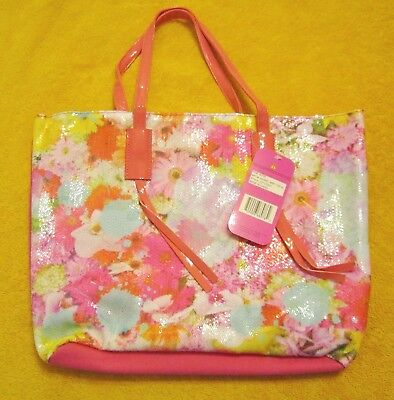 ACCESSORIES 22 Girls' Sequin Tote,Photo Real Floral,Girl's Tote Bag Pink Multi