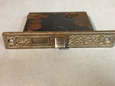 Antique Vintage Cast Iron Victorian Eastlake Door Mortise Lock Part