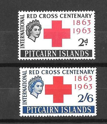 PITCAIRN ISLAND : 1963 RED CROSS CENTENARY pair : MINT / NEVER-HINGED