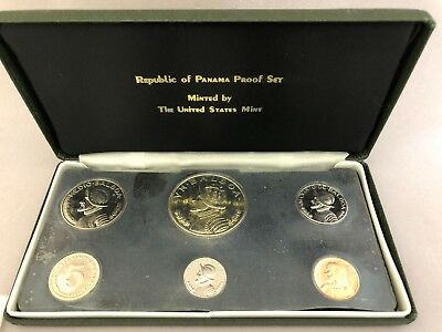 1974 Panama 6 Coin Silver Proof Set