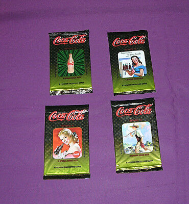 Coca-Cola Collectors Cards 4 Unopened Packages Series 4 Lot E