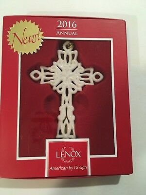 "Lenox 2016 Cross Christmas Ornament Snow Fantasies 4.5"" New"