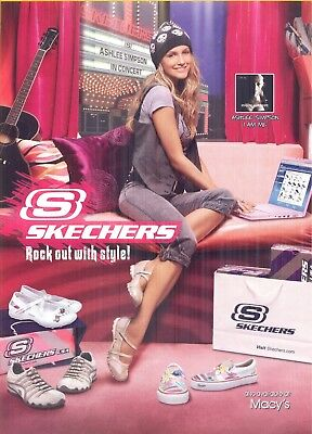 Ashlee Simpson, Singer and Actress in 2007 Skechers Footwear Magazine Print Ad