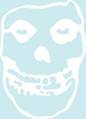 "8608 White Misfits Crimson Ghost Skull Punk Rub On Vinyl 10"" BIG Sticker / Decal"