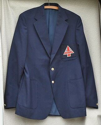 Vintage 1980s men's BAC blazer, navy