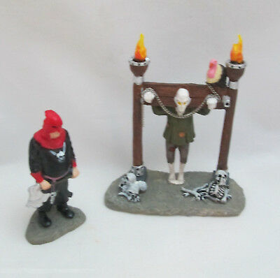 Halloween Spooky Town Layout Lemax 2006 Tortured Soul set of 2  #62203