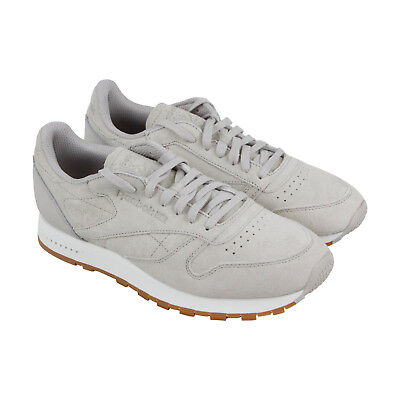 5a1137ac05c76 Reebok Cl Leather Sg Mens Gray Leather Athletic Lace Up Training Shoes