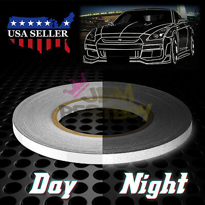 White Reflective Tape Safety Self Adhesive Striping Sticker 150FT Roll 1Cm