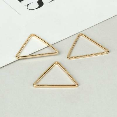 10pcs Geometric DIY Pendants Copper Rings Charms Earring Findings Crafts #1