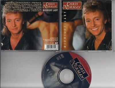 CHRIS NORMAN Midnight Lady 1991 CD BUD MUSIC 16 tracks PICTURE  GERMANY SMOKIE