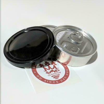 Press It In Tins / Cali tin can 100ml 3.5g tuna style with plain black caps