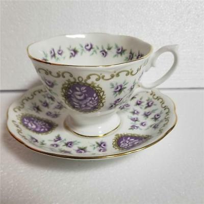 Royal Albert Cameo Series FAIRING Purple Tea Cup and Saucer Set
