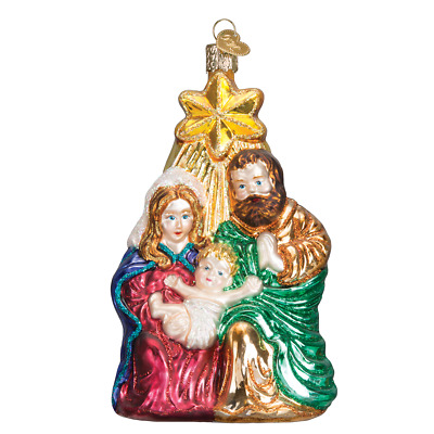 """""""Holy Family with Star"""" (10132)X Old World Christmas Glass Ornament w/OWC Box"""