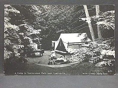 c1910 postcard...GUERNEVILLE, CA...Camp in GUERNEWOOD PARK....W. McClaire photo