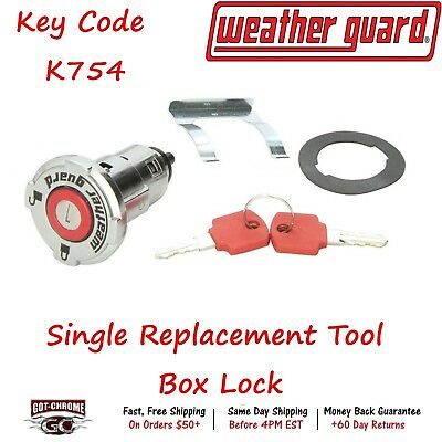 7748-54 Weather Guard Single Replacement Tool Box Lock with Key Code K754