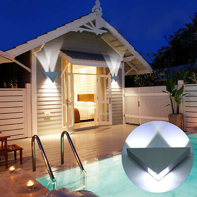 2pcs/Pack Modern 3W LED Wall Light Fixture Up Down Sconce Lamp Indoor Outdoor US