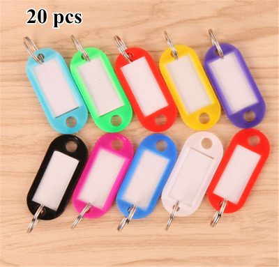 Wholesale Keychains Plastic Key Tags Assorted Key Rings ID Tags Name Card Label
