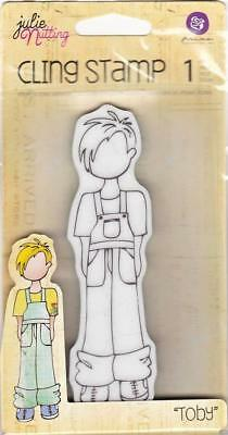 """Prima Marketing JULIE NUTTING """"Toby"""" Boy Doll Cling Stamp Mixed Media 910969"""