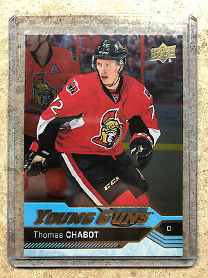 16-17 UD Upper Deck YG Young Guns Rookie RC #488 THOMAS CHABOT Silver Foil SP