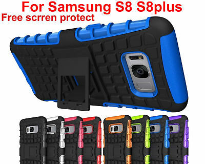 Case Cover For Samsung Galaxy S8 S8Plus PC TPU Shockproof Hybrid Kickstand Soft