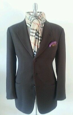 e1dbdb371c6d  1895 Mint Giorgio Armani Neiman Marcus Brown Plaid Blazer Jacket 42Long  52E 6Uk