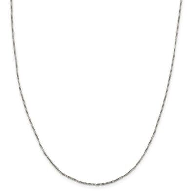 Sterling Silver 1.15mm Open Curb Chain New