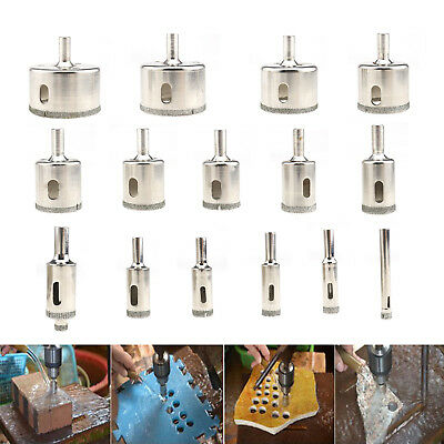 16Pack Diamond Hole Saw Set Holes Saw Drill Bit Cutter Tile Glass Marble